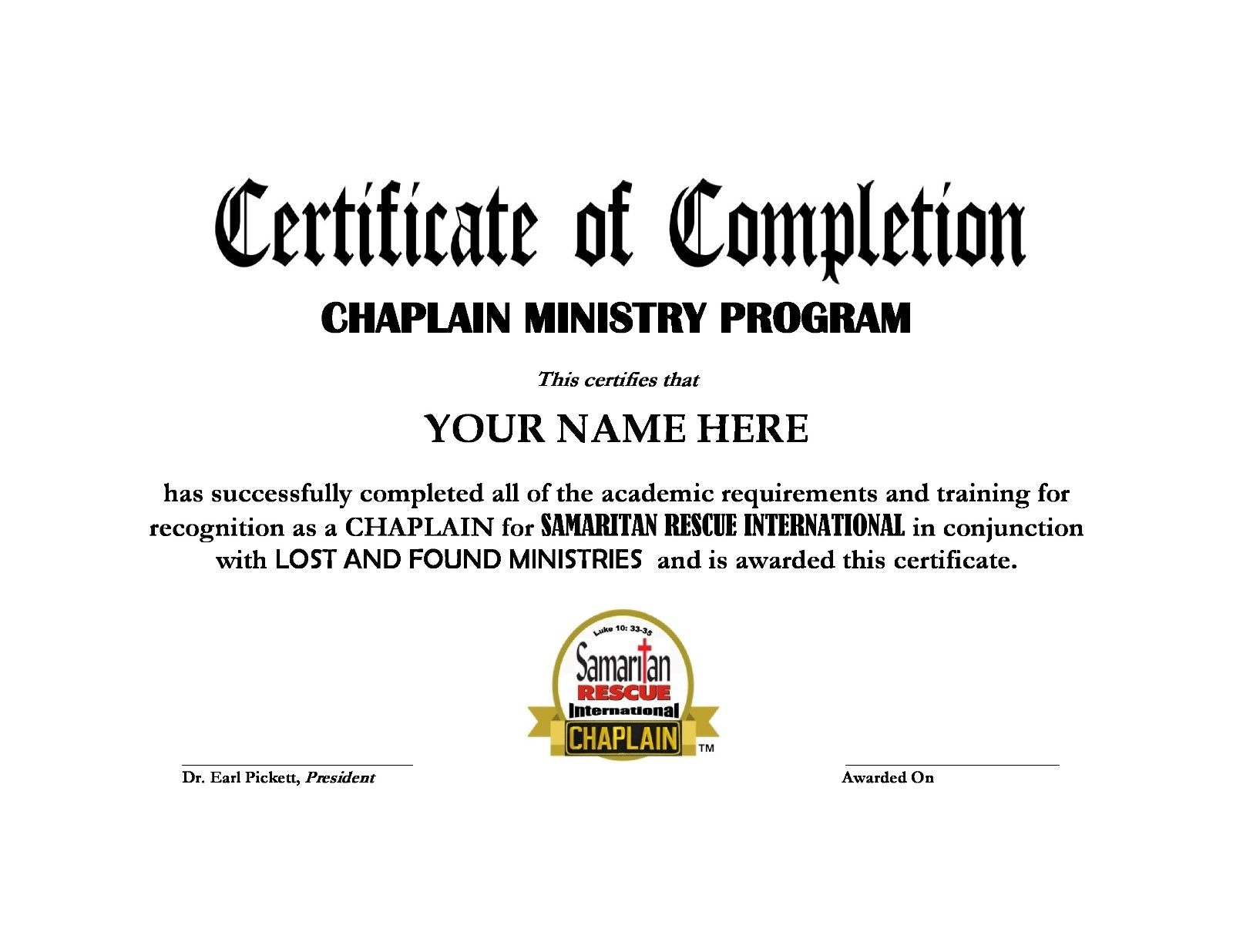 Our Home Study Programs Samaritan Rescue International Chaplains